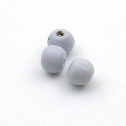 Hout kraal rond blauw 8 mm (20 st.)