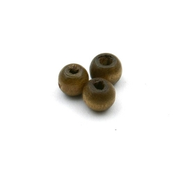 Houten kraal rond bruin 6 mm (15 gram)