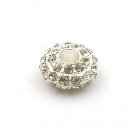 Pandora Style, kraal, strass, zilver, 16 mm (1 st.)