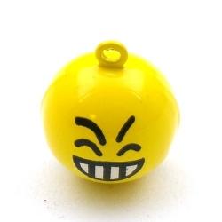 Metaal, belletje, Smiley, 22 mm (1 st.)