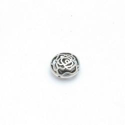 Filligrain, Metalen kraal, rond, plat, zilver, 16 mm (5 st.)