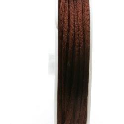Satijndraad, 2 mm, bruin (5 meter)
