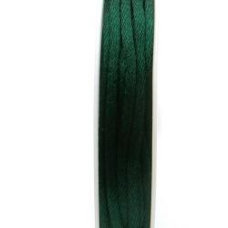 Satijndraad, 2 mm, groen (5 meter)