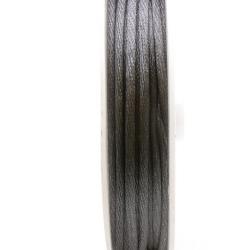 Satijndraad, 2 mm, grijs (5 meter)