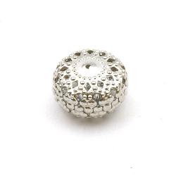 Filligrain, Metalen kraal, donut, zilver, 10 x 16 mm (3 st.)