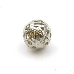 Filligrain, Metalen kraal, rond, zilver, 14 mm (3 st.)
