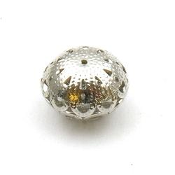 Filligrain, Metalen kraal, donut, zilver, 12 x 18 mm (3 st.)