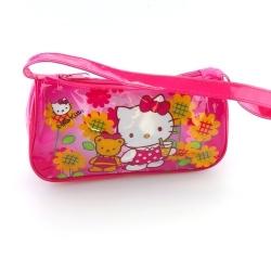 Handtasje Hello Kitty, roze, ruitje (1 st.)