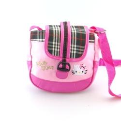 Schoudertas, Hello Kitty, roze/ruitje (1 st.)
