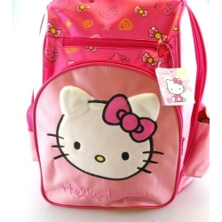 Rugtas, Hello Kitty, roze, met pluchen Hello Kitty (1 st.)