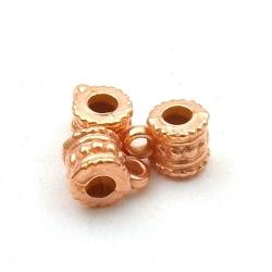 Metallook, tussenkraal met oogje, rose goud, 6 mm (20 st.)