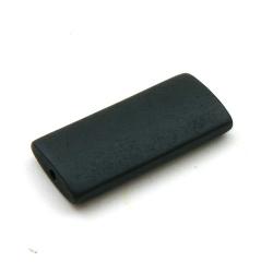 Houten kraal, rechthoek, zwart, 40 x 20 mm (5 st.)