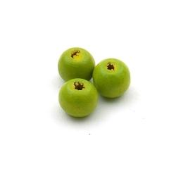 Houten kraal, rond, groen, 8 mm (20 st.)