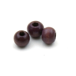 Houten kraal rond bruin 8 mm (20 st.)