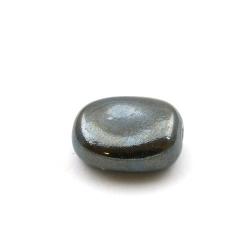 Keramiek kraal, ovaal, zwart, 28 x 24 mm (3 st.)