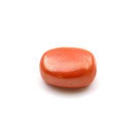 Keramiek kraal, ovaal, oranje, 28 x 24 mm (3 st.)