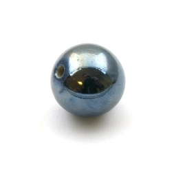 Keramiek kraal, rond, zwart, 26 mm (1 st.)