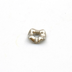Metallook, spacer, golvend, zilver, 3 x 12 mm (20 st.)