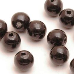 Kunststof kraal rond zwart 3 mm (50 st.)