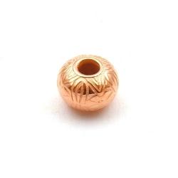 Metallook, kraal, groot rijggat, donut, roségoud, 8 x 10 mm (30 st.)