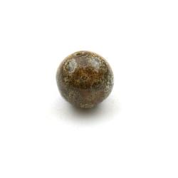 Keramiek kraal, rond, bruin, 20 mm (5 st.)