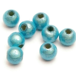 Miracle bead rond blauw 3 mm (50 st.)