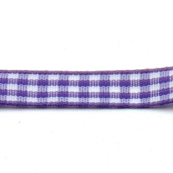 Lint, ruit, lila/wit, 10 mm (3 mtr.)