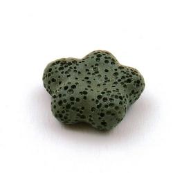 Lava kraal, bloem, legergroen, 20 mm (5 st.)