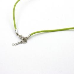 Ketting, rubber, groen, 2 mm (1 st.)