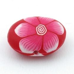 Fimokraal, ovaal, plat, roze, 26 x 30 mm (3 st.)