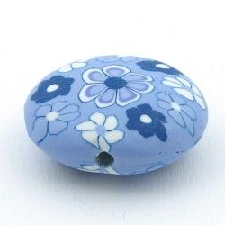 Fimokraal, ovaal, plat, blauw, 26 x 30 mm (3 st.)
