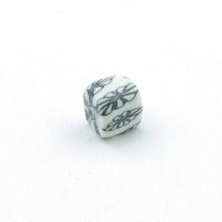 Fimokraal, blokje, wit, 8 mm (10 st.)