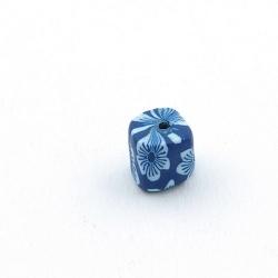 Fimokraal, blokje, blauw, 8 mm (5 st.)
