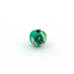 Fimokraal, rond, groen, 8 mm (10 st.)