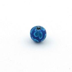 Fimokraal, rond, blauw, 8 mm (10 st.)