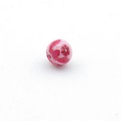Fimokraal, rond, roze, 8 mm (10 st.)