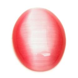 Cabochon, ovaal, catseye roze, 26 x 20 mm (1 st.)