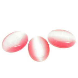Cabochon, ovaal, catseye roze, 18 x 13 mm (1 st.)