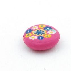 Fimokraal, rond, plat, roze, 20 mm (3 st.)