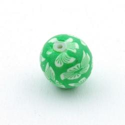 Fimokraal, rond, groen, 14 mm (3 st.)