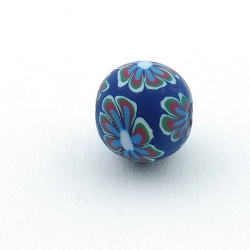 Fimokraal, rond, blauw, 14 mm (3 st.)