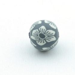 Fimokraal, rond, grijs, 14 mm (3 st.)