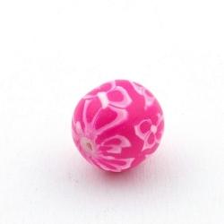 Fimokraal, rond, roze, 14 mm (3 st.)
