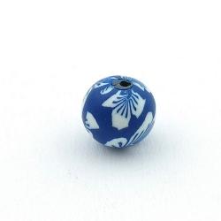 Fimokraal, rond, blauw, 12 mm (5 st.)