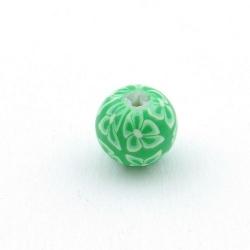 Fimokraal, rond, groen, 12 mm (5 st.)