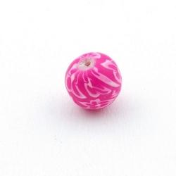 Fimokraal, rond, roze, 12 mm (5 st.)
