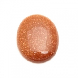 Cabochon, ovaal, halfedelsteen, goudsteen, 30x22 mm (1 st.)