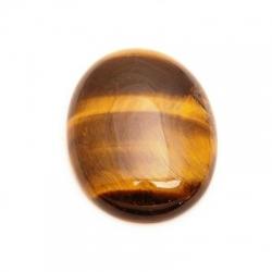 Cabochon, ovaal, halfedelsteen, Tigereye, 30 x 22 mm (1st.)