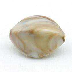 DQ Acryl kraal ovaal hoekig naturel 28 mm (3 st.)