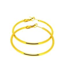 Oorbellen, creolen, goud plated 35 mm (1 paar)